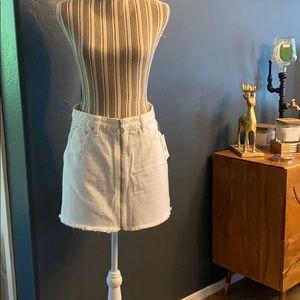Free People White Jean Skirt NWT